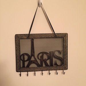 Paris Hanging Metal Jewelry Holder